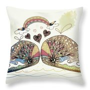 Love Sweet Love Throw Pillow by Karin Taylor