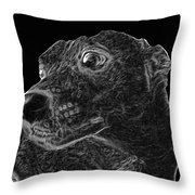 Love The Concern Pet Dog Rendering Throw Pillow