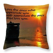 Love The One Throw Pillow