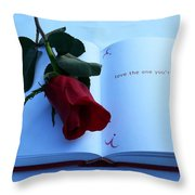 Love The One You're With Throw Pillow