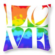 Love The Rainbow Throw Pillow