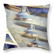 Love Those Industrial Lights Throw Pillow