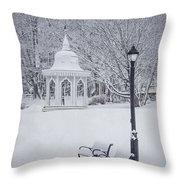 Love Through The Winter Throw Pillow