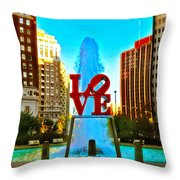 Love Town Throw Pillow