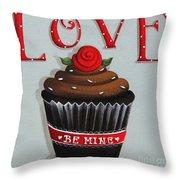 Love Valentine Cupcake Throw Pillow