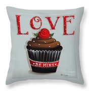 Love Valentine Cupcake Throw Pillow