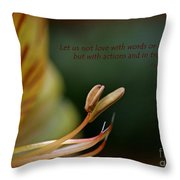 Love With Action Throw Pillow