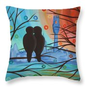 Lovebirds In P-town Throw Pillow