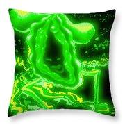 Lovehoney In Green Start Up Throw Pillow