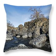 Lovejoy Basalt Formations  Throw Pillow