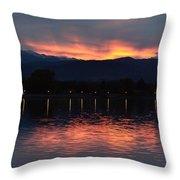 Loveland City Sunset Throw Pillow
