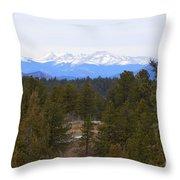 Lovell Gulch Hiking Trail Throw Pillow