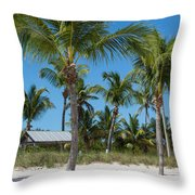 Lovely Beach On Key West East Side Throw Pillow