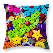 Lovely Buttons Throw Pillow