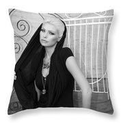 Lovely Bw Liberace Home Palm Springs Throw Pillow by William Dey