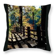 Lovely Day For Hike Throw Pillow