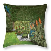 Lovely Green Throw Pillow by Anastasiya Malakhova