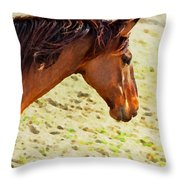 Lovely Head Throw Pillow