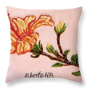 Lovely Hibiscus Throw Pillow