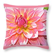 Lovely In Pink - Dahlia Throw Pillow