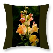 Lovely In Yellow Throw Pillow