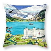 Lovely Lake Louise Throw Pillow