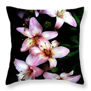 Lovely Lilies Throw Pillow