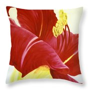 Lovely Lily Floral Print Throw Pillow
