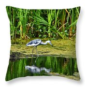 Lovely Little Blue Throw Pillow