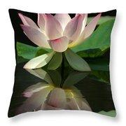 Lovely Lotus Reflection Throw Pillow