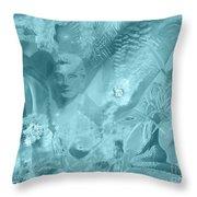 Lovely Mayhem - Ice Blu Throw Pillow
