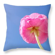 Lovely Pink Flower Series 5 Or 5 Throw Pillow