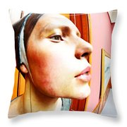 Lovely Profile Throw Pillow