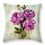Lovely Roses Throw Pillow