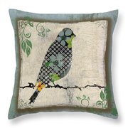 Lovely Song Bird-a Throw Pillow