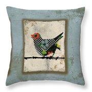 Lovely Song Bird Trio -1 Throw Pillow