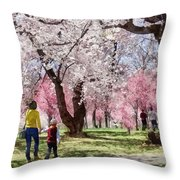 Lovely Spring Day For A Walk Throw Pillow