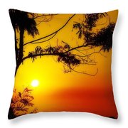 Lovely Sunset Throw Pillow by George Paris