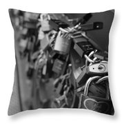 Lovers Crossing Throw Pillow