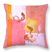 Lovers Dance 2 In Sienna And Pink  Throw Pillow