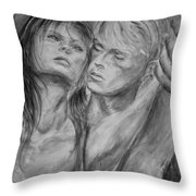 Lovers In Mono 02 Throw Pillow