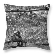 Lovers On Daffodil Hill Throw Pillow