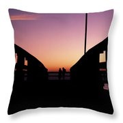 Lovers' Pier At Lake Ponchartrain Throw Pillow