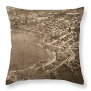 Aerial Of Lovers Point And Pacific Grove California July 10 1906 Throw Pillow