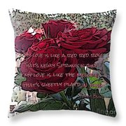 Lover's Roses Throw Pillow