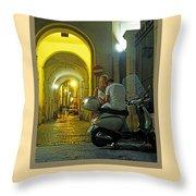 Lovers Sorrento Italy Throw Pillow