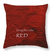 Loving The Color Red Group Avatar Throw Pillow