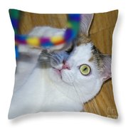 Loving The Rainbow Psychedelic Toy.. Throw Pillow