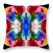 Loving Wisdom Abstract Living Artwork Throw Pillow