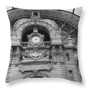 Low Angle View Of A Building, Antwerp Throw Pillow